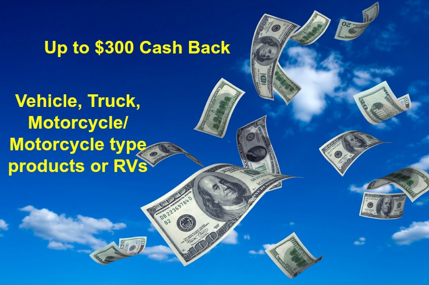 $300 cash back loan promo