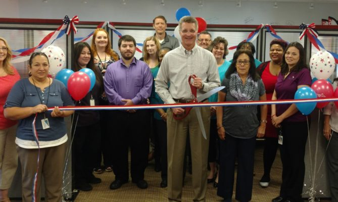 ribbon cutting for call center