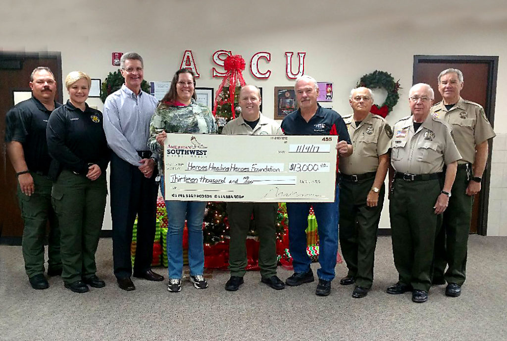 Cochise County Sheriff's Charity Ride donation check