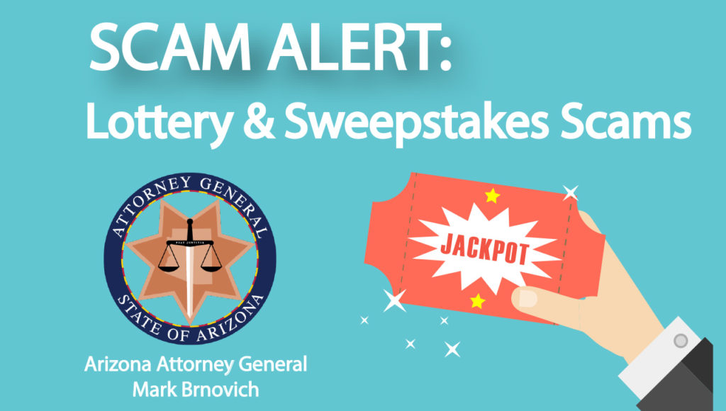 SCAM ALERT: LOTTERY SCAMS are prevalent